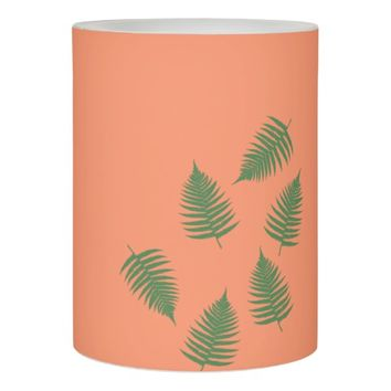 Lucky Green Fern Pattern Candle