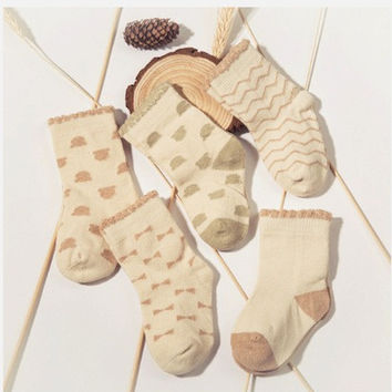 Infant Organic Cotton Baby Breathable Socks