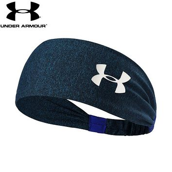 Under Armour Fashion Women Men Gym Casual Headband Yoga Running Headwrap Head Hair Band Dark Blue
