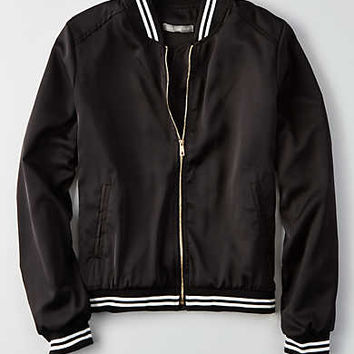 Don't Ask Why Drapey Bomber, Black