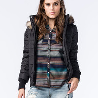 Full Tilt Womens Puffer Jacket Black  In Sizes