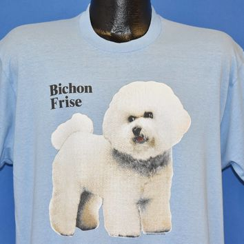 80s Bichon Frise Puppy Dog t-shirt Extra Large