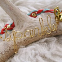 "Golden ""Sparkle"" Wire Formed Friendship Bracelet"