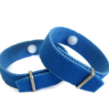 Nausea/Motion Sickness Bracelets INFUSED with Pure Essential Oils for the added benefits of Aromatherapy (pair) blue
