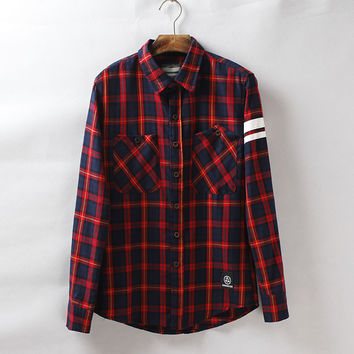 Long Sleeve Shirt Casual Men's Fashion Blouse [6541225795]