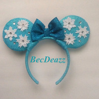 Disney Frozen Elsa Minnie Mouse ears headband