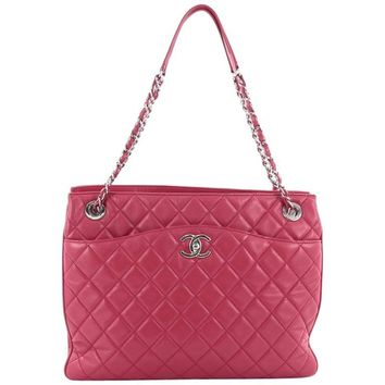 Chanel 3 Tote Quilted Lambskin Medium