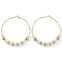 Beaded hoop earrings by VENUS