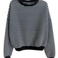 Monochrome Striped Sweatshirt