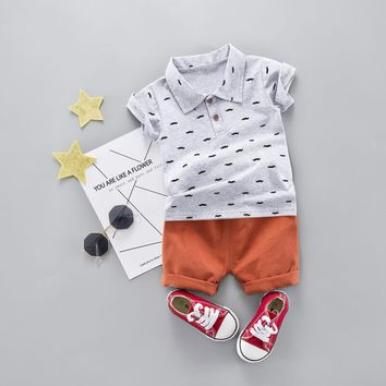Crowns & Mustaches Baby Boys 2-Piece Set (Multiple Styles)