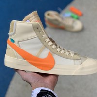 "[ Free  Shipping ]Nike Blazer Mid Off-White ""All Hallows Eve"" AA3832-700  Basketball Shoes"