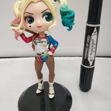 Suicide Squad Harley Quinn Action Figure Women Joker Toy Figure Q Version Clay Kits Collectible Moedl Brinquedos Gift