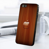 Wood Aplle iPhone 5 Or 5S Case