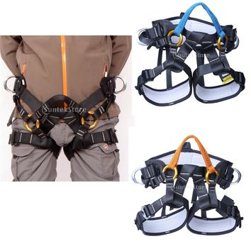 Adjustable Safety Rock Climbing Tree Carving Rappelling Harness Bust Seat Belt Outdoor Sitting Bust Belt Harness Rappelling Equi
