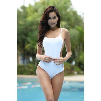 Victoria Secret Women One Piece Swimsuit High Cut Backless Mesh Bikini Bathing Suit