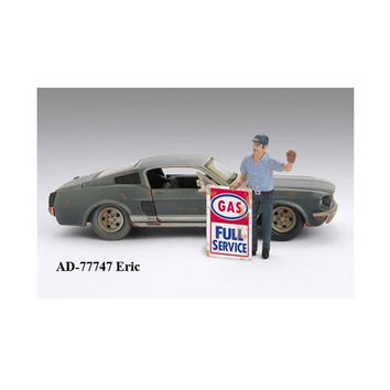 Gas Station Attendant Eric For 1:24 Diecast Model Cars by American Diorama