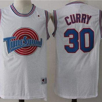 Space Jam 30 Curry Movie Basketball Jersey DCCK