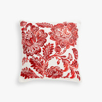 Floral print linen cushion cover - Throw Pillows - BEDROOM | Zara Home United States of America