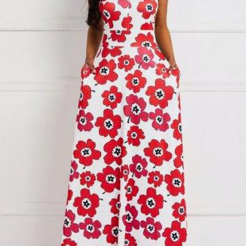 Back To The 70's Large Flower Maxi Dress