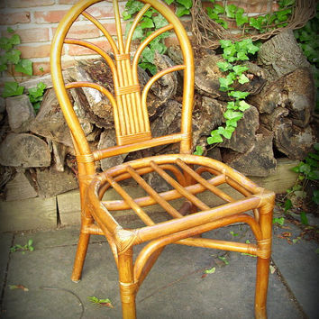 Vintage Bamboo Rattan Side Chair