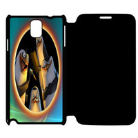 Penguins of Madagascar Say Hello Samsung Galaxy Note 4 Flip Case Cover