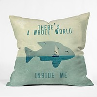 Belle13 There Is A Whole World Inside Me Throw Pillow
