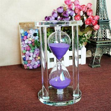 Excellent Timer Hourglass Craft 3/5/10/ 15Minutes Count Timer Sand Clock Crystal 3D GIft Art Sandglass Home Decoration Accessory