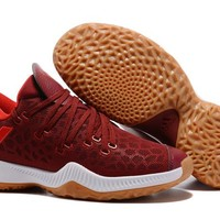 Adidas Men James Harden 2.0 Wine Red Basketball Shoes