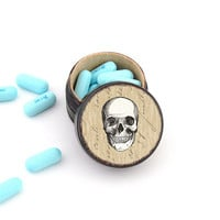Skull Pill Box - Skull Non Toxic Vitamin Box - Skull Wedding Ring Box - Skull Powder Box