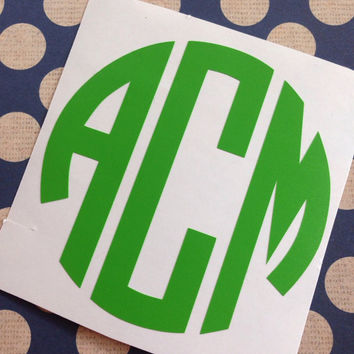 Circle Monogram | Laptop Monogram | Bottle Monogram | Car Monogram | Notebook Monogram | Vehicle Monogram | Preppy Monograms | Prepster