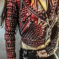 TOXIC VISION Slayer Reign in Blood studded motorcycle jacket — Toxic Vision