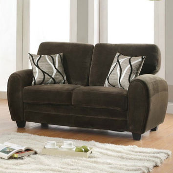 Homelegance Rubin Loveseat in Chocolate Microfiber