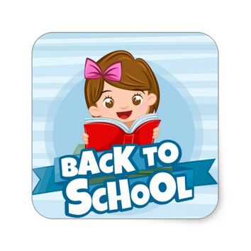 Back To School Square Sticker