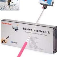 InnoGear Adjustable Extendable Wireless Bluetooth Monopod Handheld Self Portrait Self Timer Selfie Stick with Remote Shutter Function for iPhone 4 4s 6 6 plus 5 5s 5c, Samsung S3 S4 Note 2 Note 3, HTC, Sony, LG, Compatble with IOS 4.0/ Android 3.0 or Above