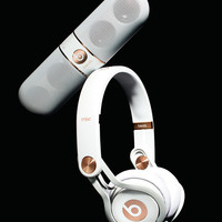 Rose-Gold-Tone On-Ear Headphones & Pill Speaker