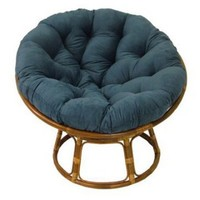 42 in. Papasan Chair with Solid Micro Suede Cushion - Accent Chairs at Hayneedle