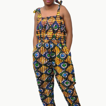 Ola Long Jumpsuit - African Print Jumpsuit