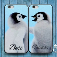 iPhone 4 4s 5 5s 5c 6 6s plus + iPod Touch 4th 5th 6th Generation Cute Best Friend Couple Bf Gf Hug Kiss Phone Case Funny Bird Penguin Cover
