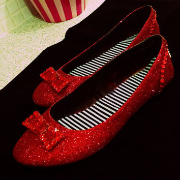 Ruby Slippers - Wizard of Oz Wedding/Party Costume Fancy Dress Shoes Adult / Child