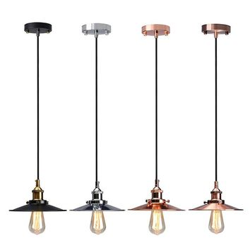 Lamp Cover Vintage Antique Ceiling Metal Edison Pendant Ceiling Light Holder Lighting Bulb Chandelier Lamp Shade Wall Light
