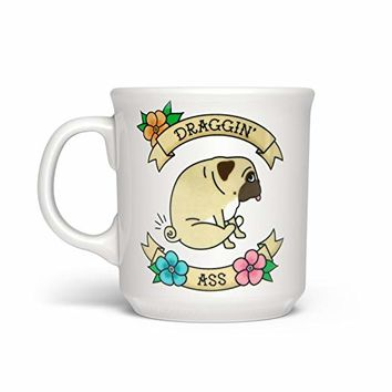 Fred 5228628 Say Anything Ceramic Coffee Mug, 16-Ounce, Draggin'