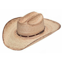 Ariat Mens Natural Burnt Palm Leaf Cowboy Hat