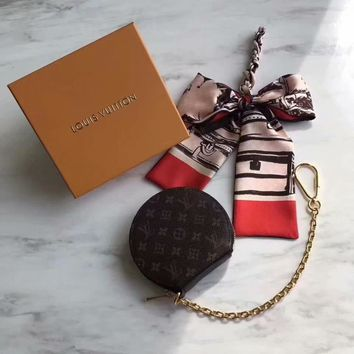 HCXX 19June 545 Louis Vuitton LV MICRO BOTE CHAPEAUM63597 Wallet and Key Ring coffee