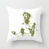 Andy Murray Wimbledon Tennis Throw Pillow by DanielBergerDesign