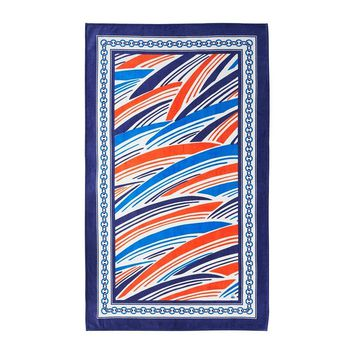 Flots Ocean Blue Beach Towel by Yves Delorme