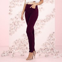 LC Lauren Conrad Runway Collection Velvet Cigarette Pants - Women's