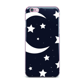 "KESS Original ""Moon & Stars"" Black White iPhone Case"