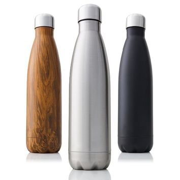 Double-Wall Insulated Stainless Steel Water Bottle BPA Free Thermos Sport