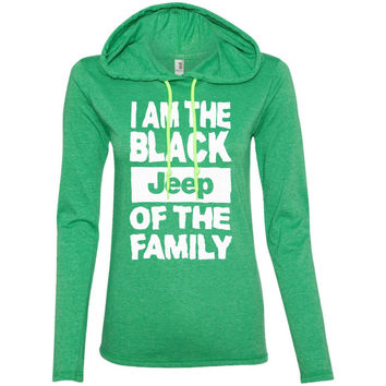 I Am The Black Jeep of the Family Funny Black Sheep of the Family  887L Anvil Ladies' LS T-Shirt Hoodie