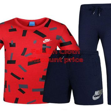 Nike T-Shirt Short Sleeve Nike Short Nike Trousers L-4XL P115 Red Blue